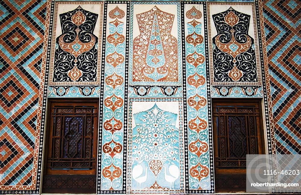 Tile Decorations On The Facade Of The Palace Of Shaki Khans, Shaki, Azerbaijan