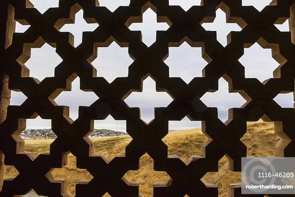 Stone Lattice Window In The Diri Baba Mausoleum, Gobustan Rayon, Azerbaijan