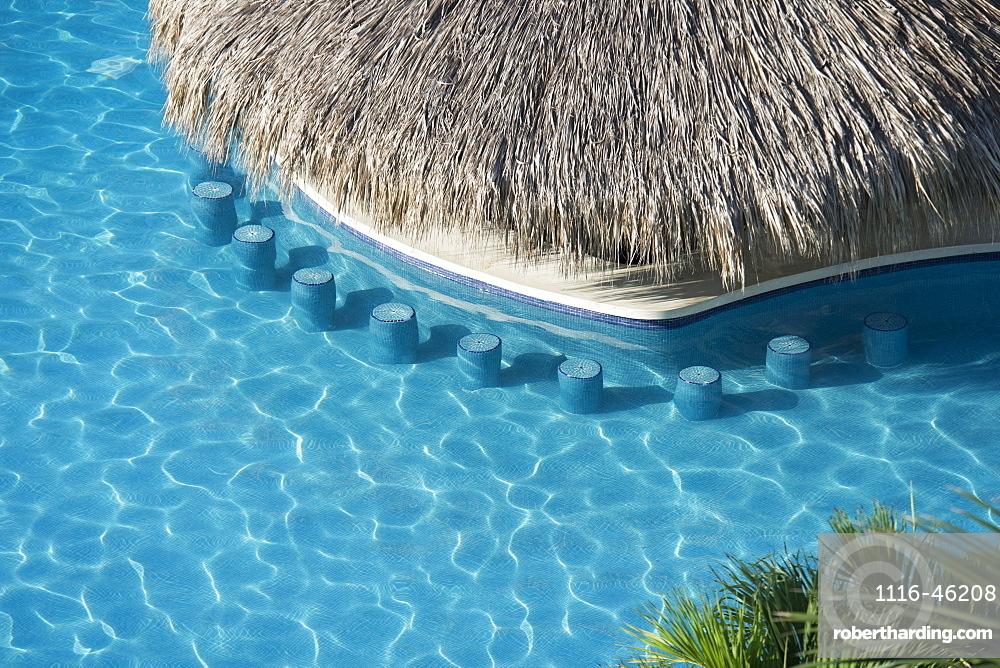 The Swim Up Bar At The Emporio Hotel, Ixtapa, Mexico