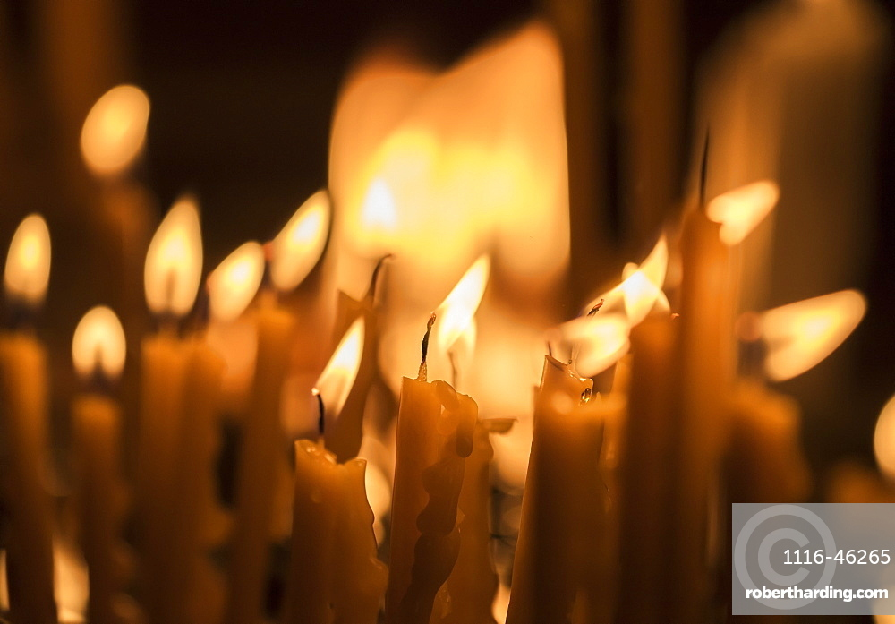 Lit Candles At Khor Virap Monastery, Ararat Province, Armenia