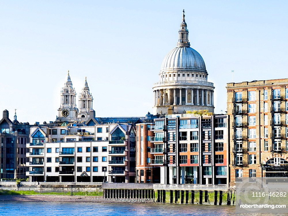 St Paul's Cathedral And Riverside Buildings, London, England