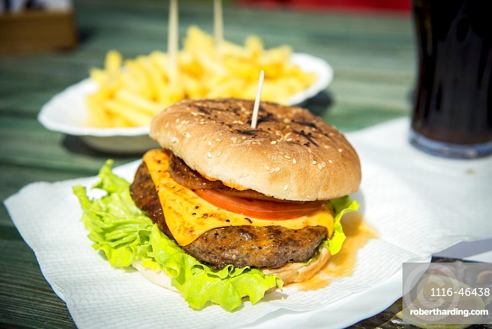 Hamburger In Moinhos Beach, Sao Miguel, Azores, Portugal