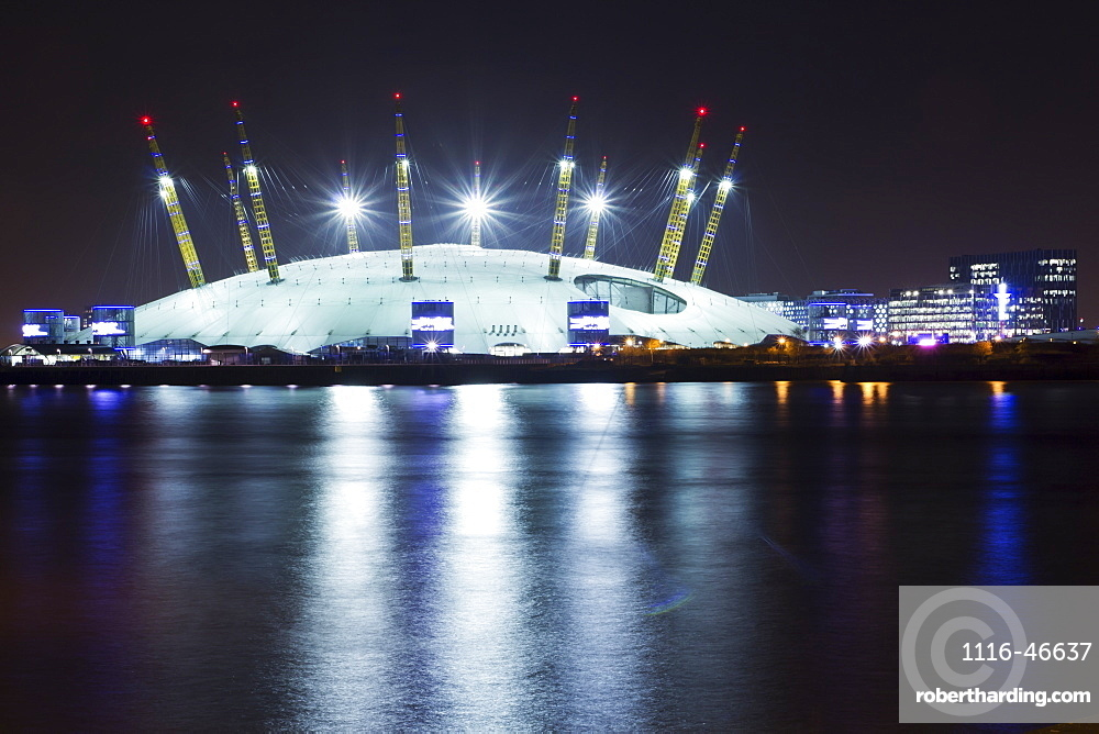 O2 Arena By Night, London, England