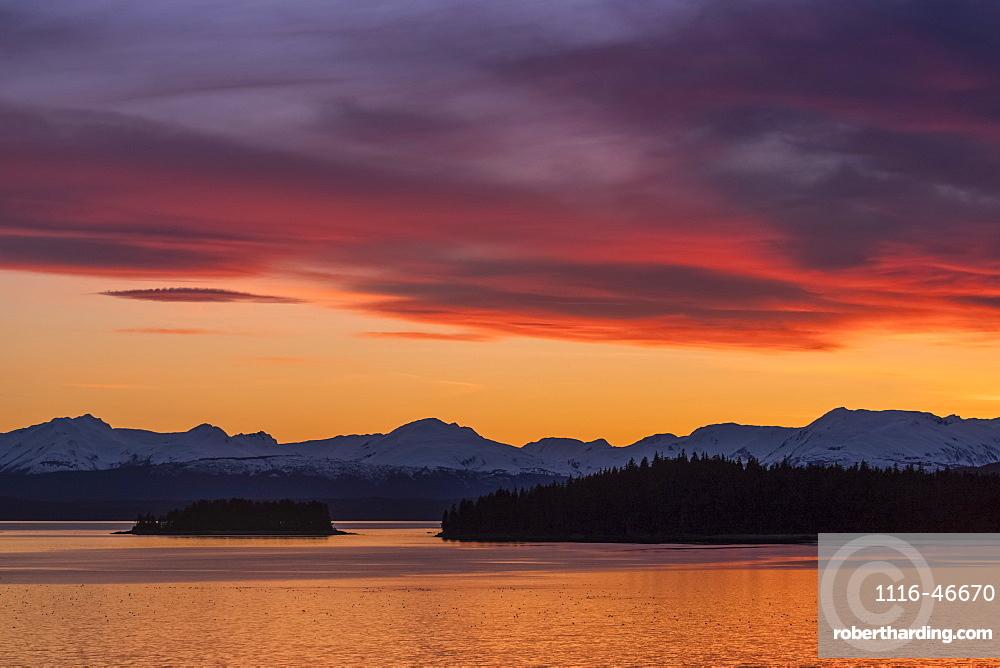 Sunset, Auke Bay, Juneau, Alaska, United States Of America