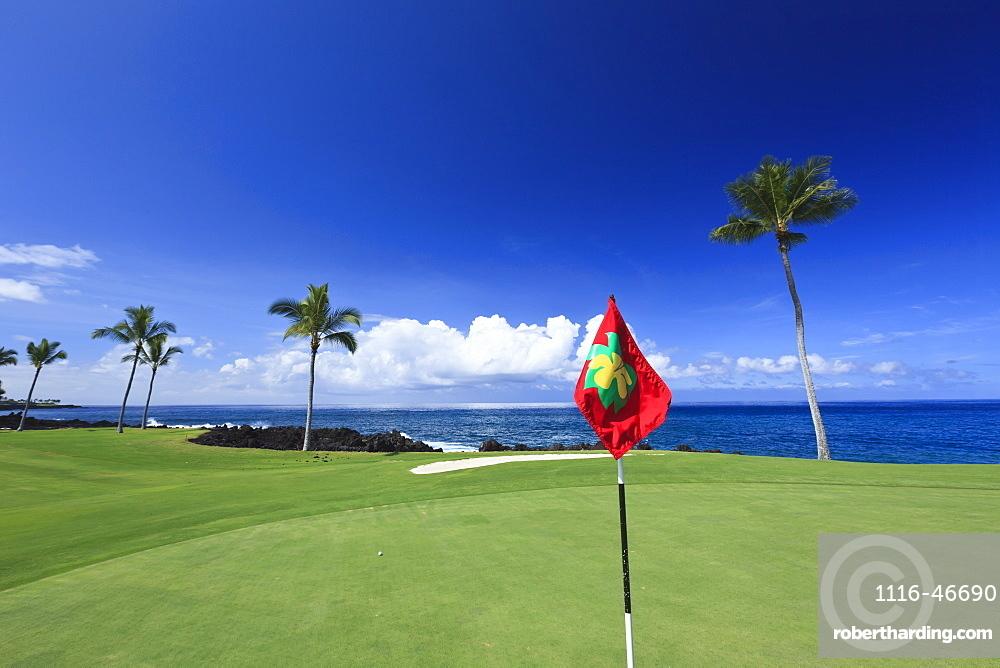 Golf Course, Kona Country Club, Kailua Kona, Island Of Hawaii, Hawaii, United States Of America
