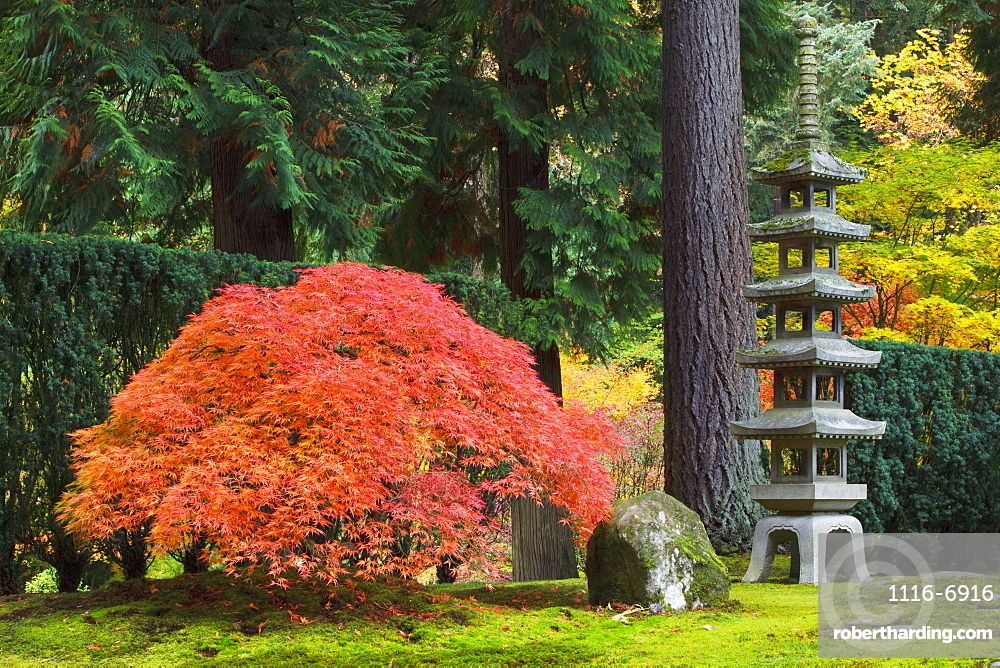 Portland Japanese Garden Portland Oregon Stock Photo