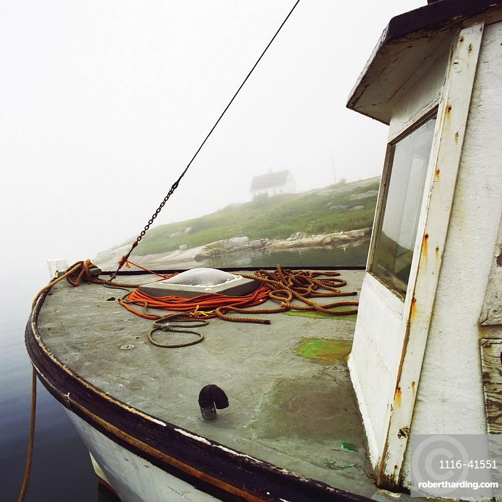 Bow Of A Fishing Boat, Peggy's Cove, Nova Scotia.