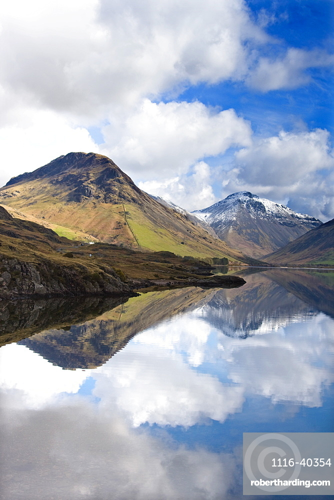 Mountains And Lake, Lake District, Cumbria, England, United Kingdom