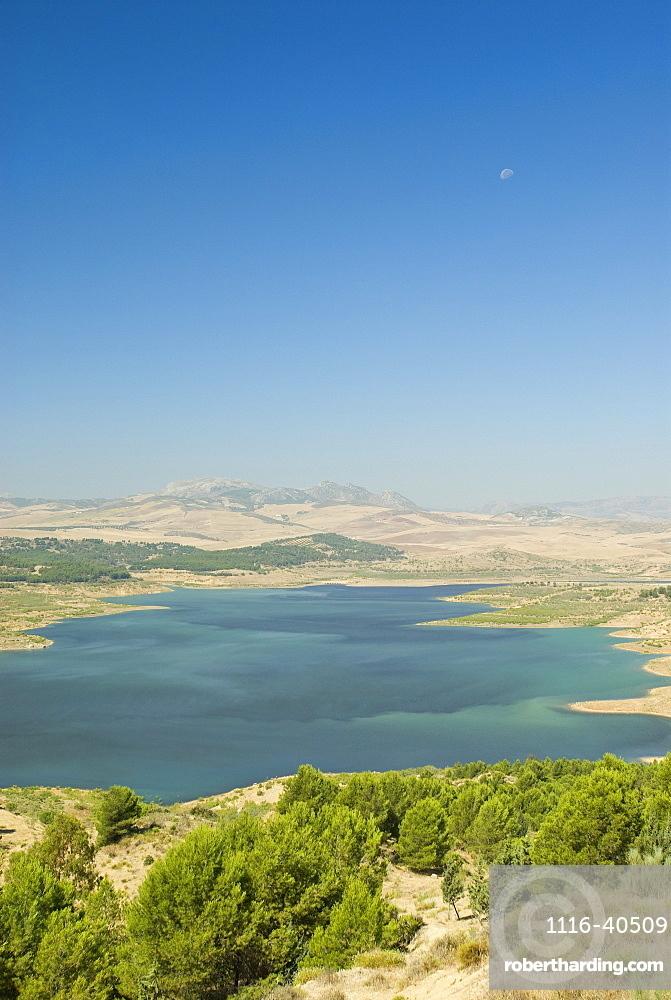 Reservoir, Malaga Lake, Andalusia, Spain