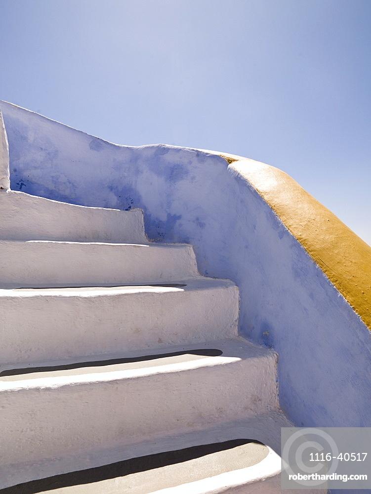 Whitewashed Stairs, Santorini, Greece
