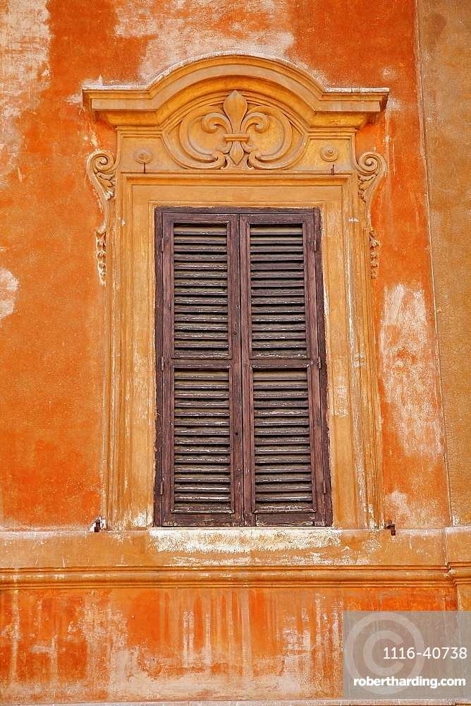 Rome, Italy, One Window With Shutters