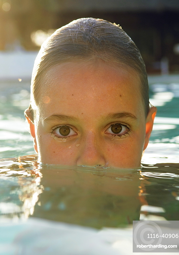 Girl Swimming In The Water