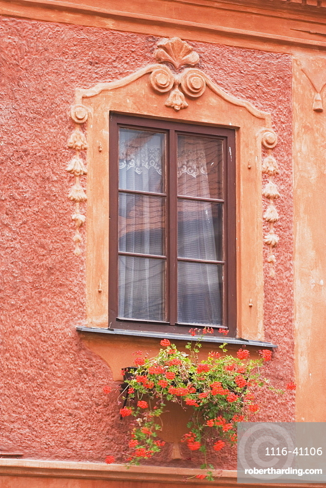 Building Window With Flower Box