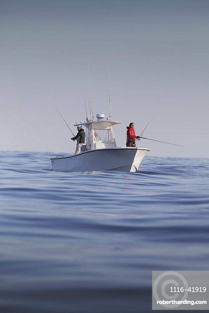 Fishing boat in cape cod bay, cape cod massachusetts united states of america