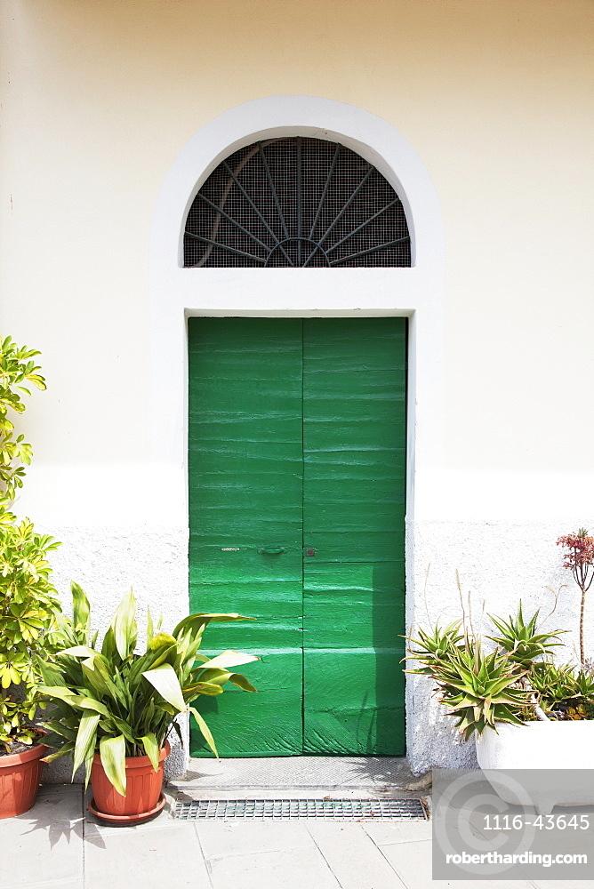 A Quaint Green Door, Riomaggiore, Liguria, Italy