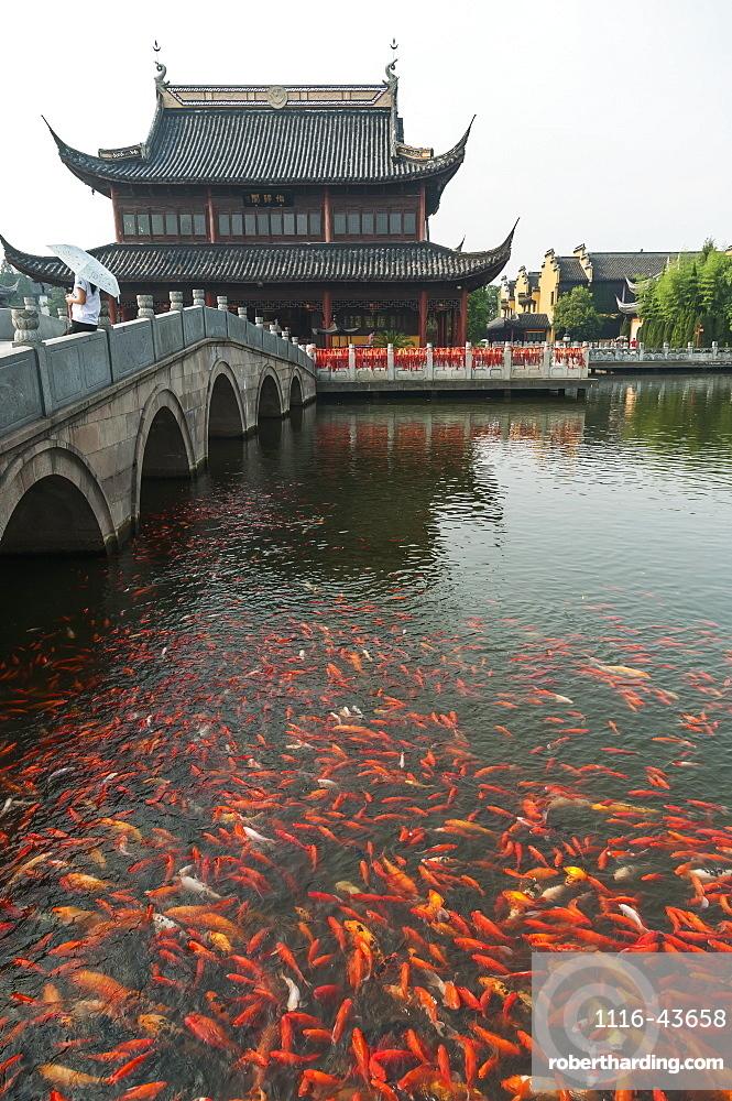Zhouzhuang Ancient Town, Beautiful Traditional Chinese Architecture, Zhouzhuang, Shanghai, China