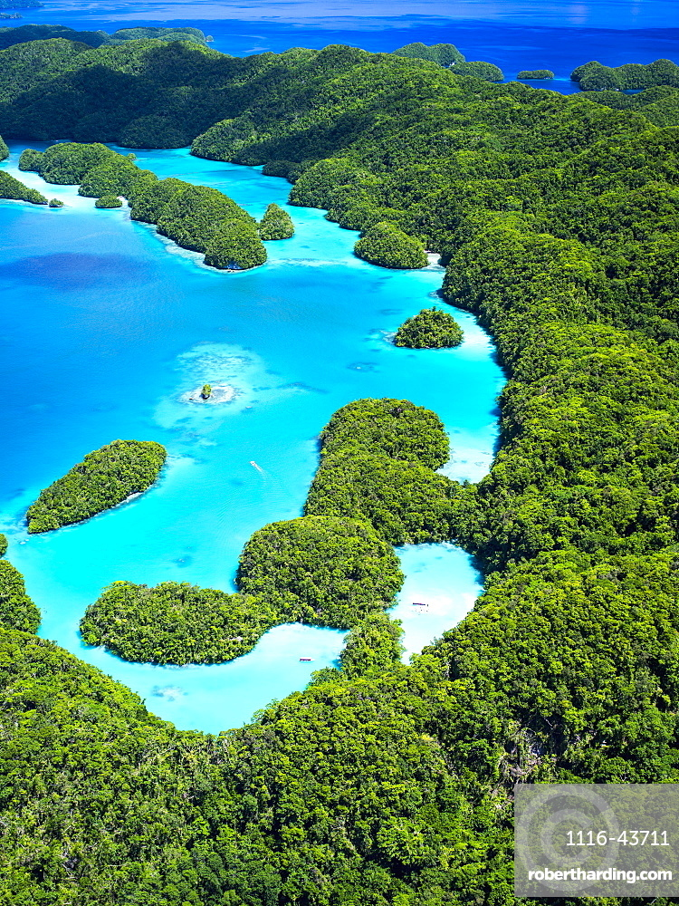 Aerial View Of World Heritage Listed Palau Islands, Micronesia