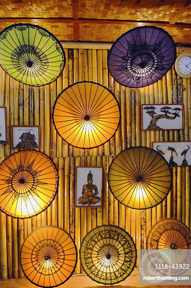 Coloured Umbrellas In A Shop, Myanmar
