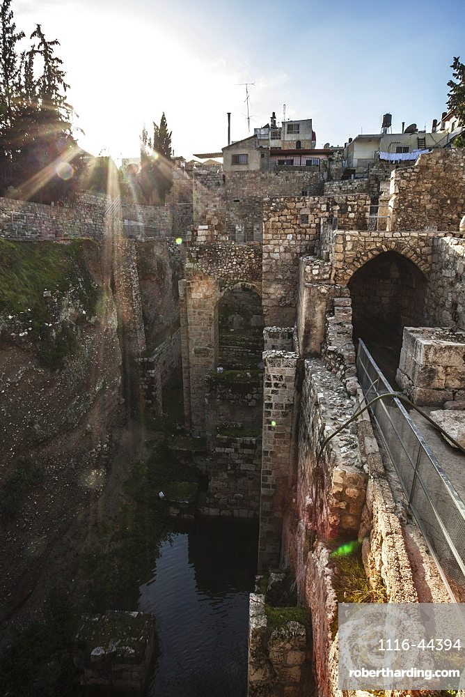 Pool Of Bethesda And Ruins Of The Byzantine Church, Jerusalem, Israel