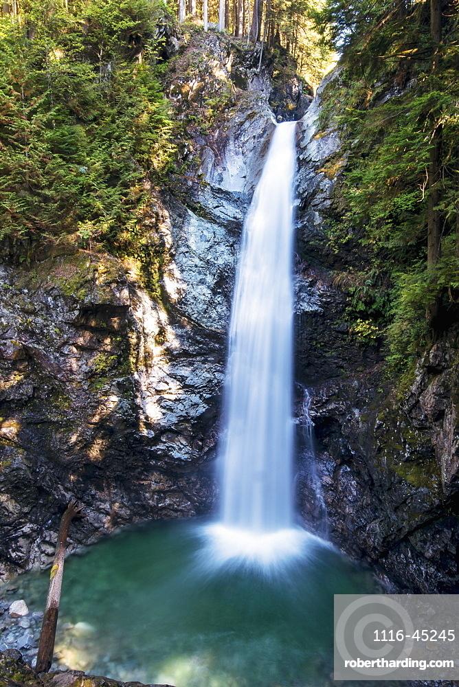 Cascade Falls In Cascade Falls Regional Park, Deroche, British Columbia, Canada