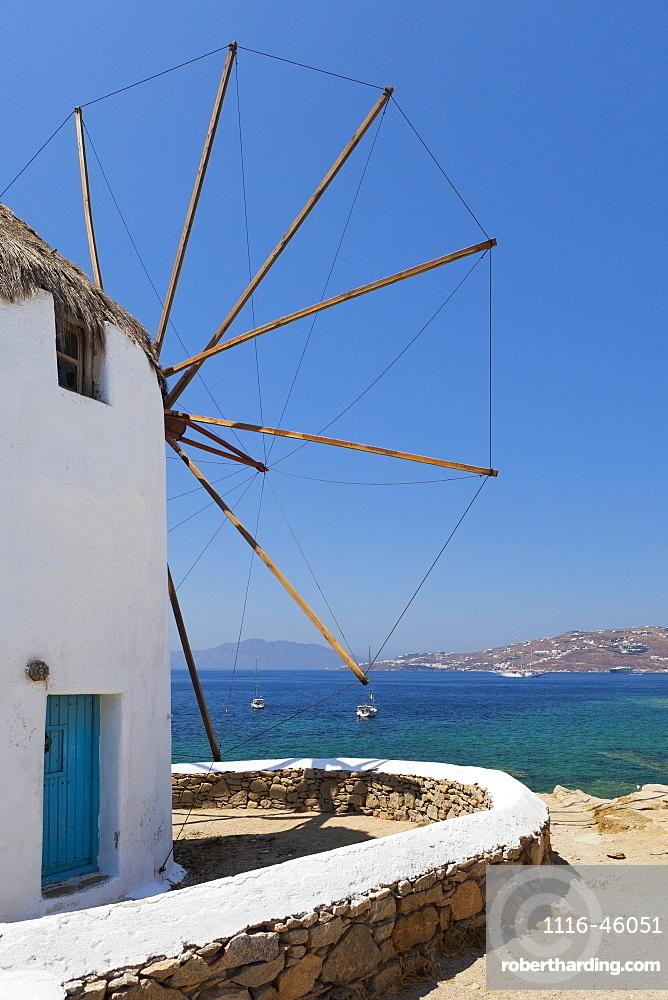 Traditional Windmill, Chora, Mykonos, Greece