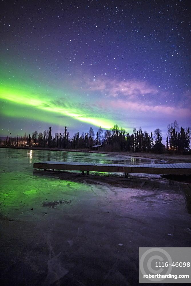 Northern Lights Over Big Lake North State Recreational Site, Southcentral Alaska