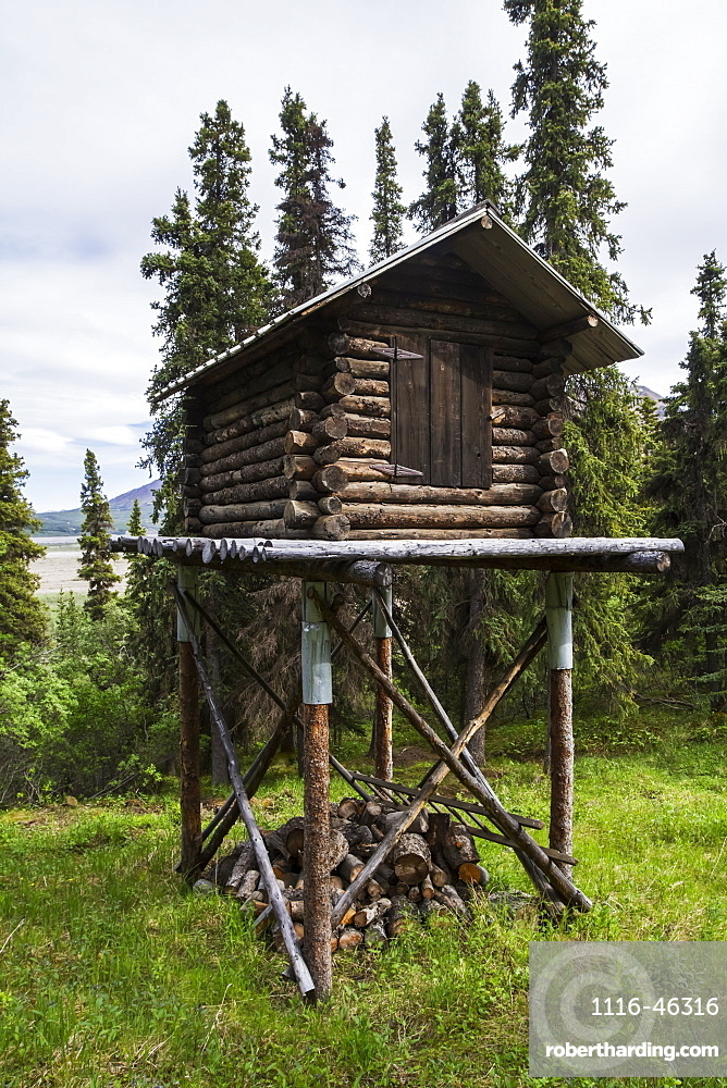 A Cache In Denali National Park Near An Old Cabin That Is Occupied During The Summer By A Park Worker, Alaska, United States Of America
