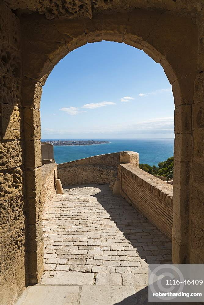 Santa Barbara Castle From Alicante, A Fortress Built At The End Of Eleventh Century By Muslims, Alicante, Valencia, Spain
