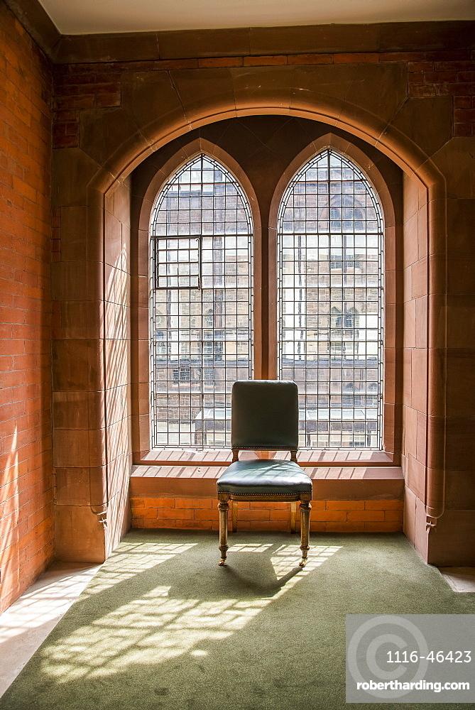 Sun Streams Through A Window At The Scottish National Portrait Gallery, Edinburgh, Scotland