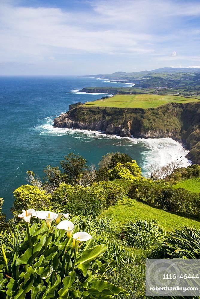 View Of Santa Iria Bay, Sao Miguel, Azores, Portugal