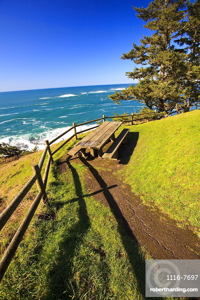 Oregon, United States Of America; Along The Coast Of The Pacific Ocean At Cape Arago State Park