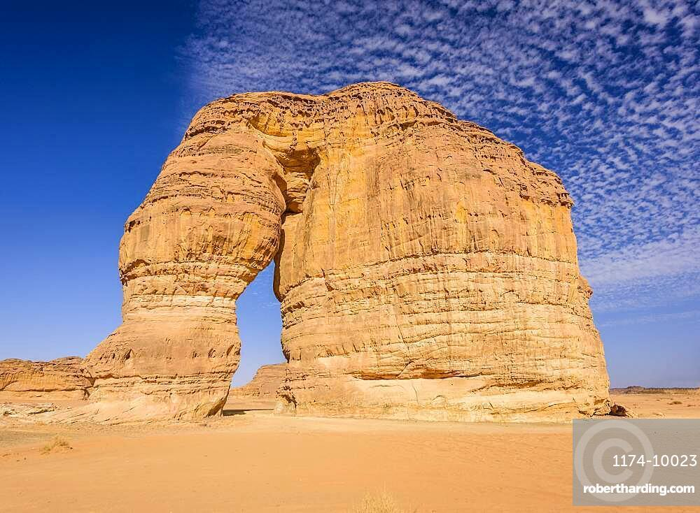 Hegra, also known as Madaメin Salih, or Al-?ijr, archaeological site, Nabatean carved rock cave tombs