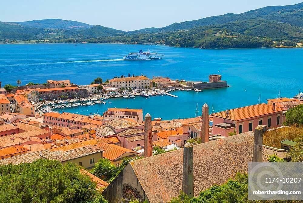 View over Portoferraio, Island of Elba, Italy