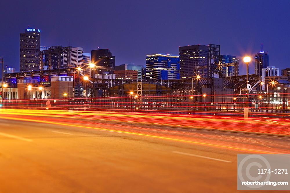 Denver Skyline and Traffic, Denver, Colorado, United States of America