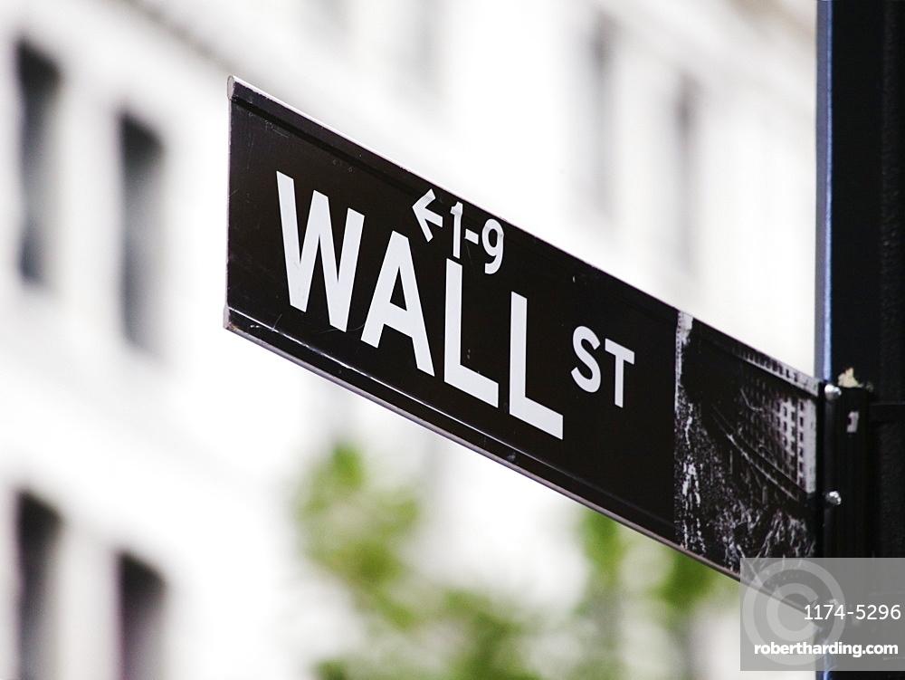 Wall Street Sign, Manhattan, New York, United States of America