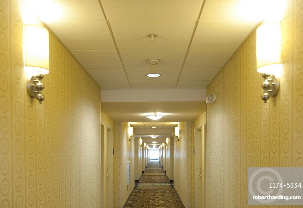 Hotel Corridor, Richmond, Virginia, United States of America