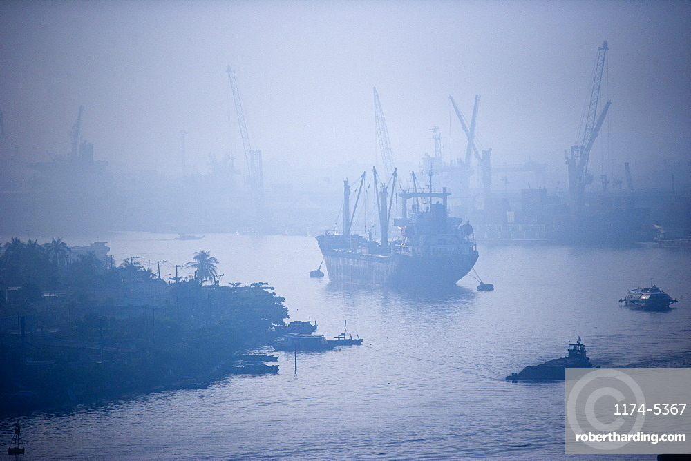 Ship on Song Sai Gon River, Vietnam, Ho Chi Minh City, Vietnam