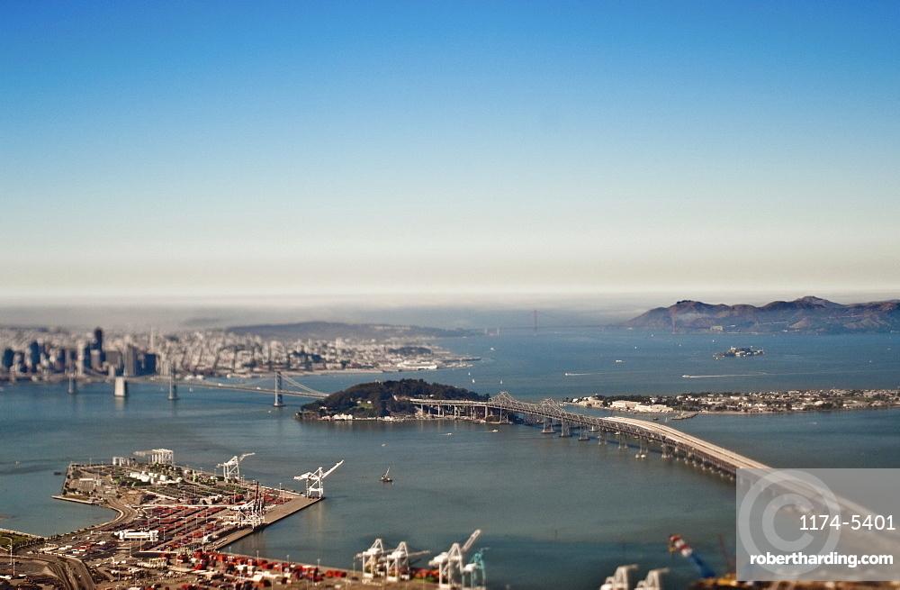 San Francisco Bay and Downtown, San Francisco, California, United States of America