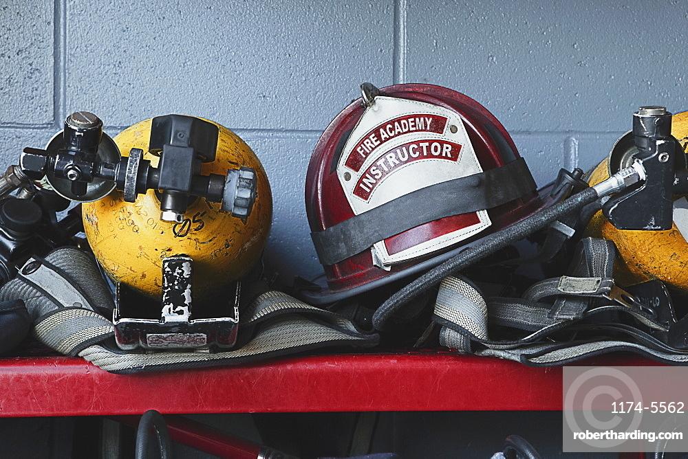 Fireman Helmets and Gear, Bradenton, Florida, United States of America