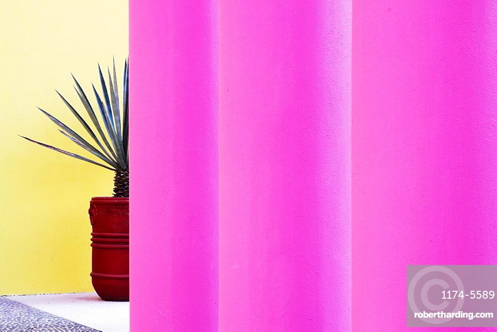 Pink Architectural Columns, San Jose los Cabos, Baja California, Mexico