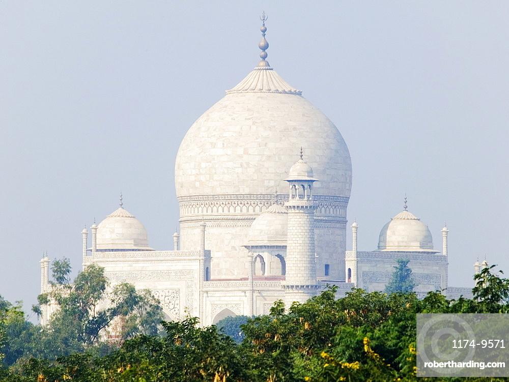 Taj Mahal dome and minarets, India