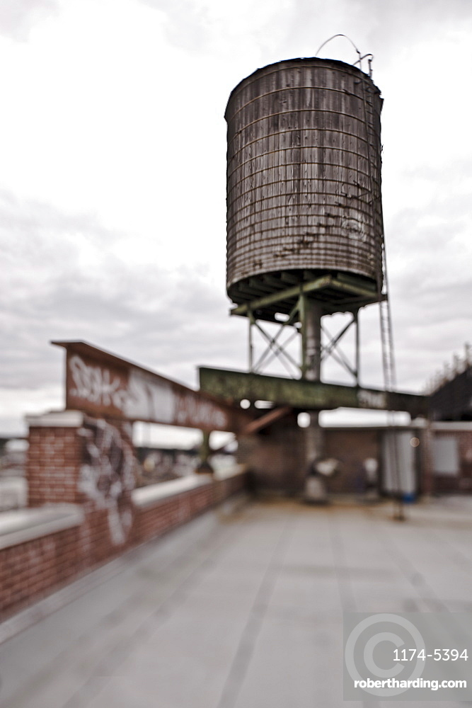Rooftop Water Tower, New York City, New York, United States of America