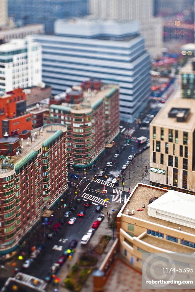 Busy City Street, New York City, New York, United States of America