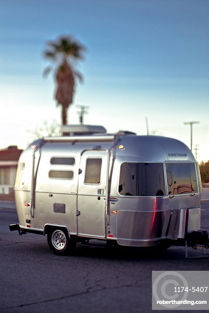 Silver Travel Trailer, Twentynine Palms, California, United States of America