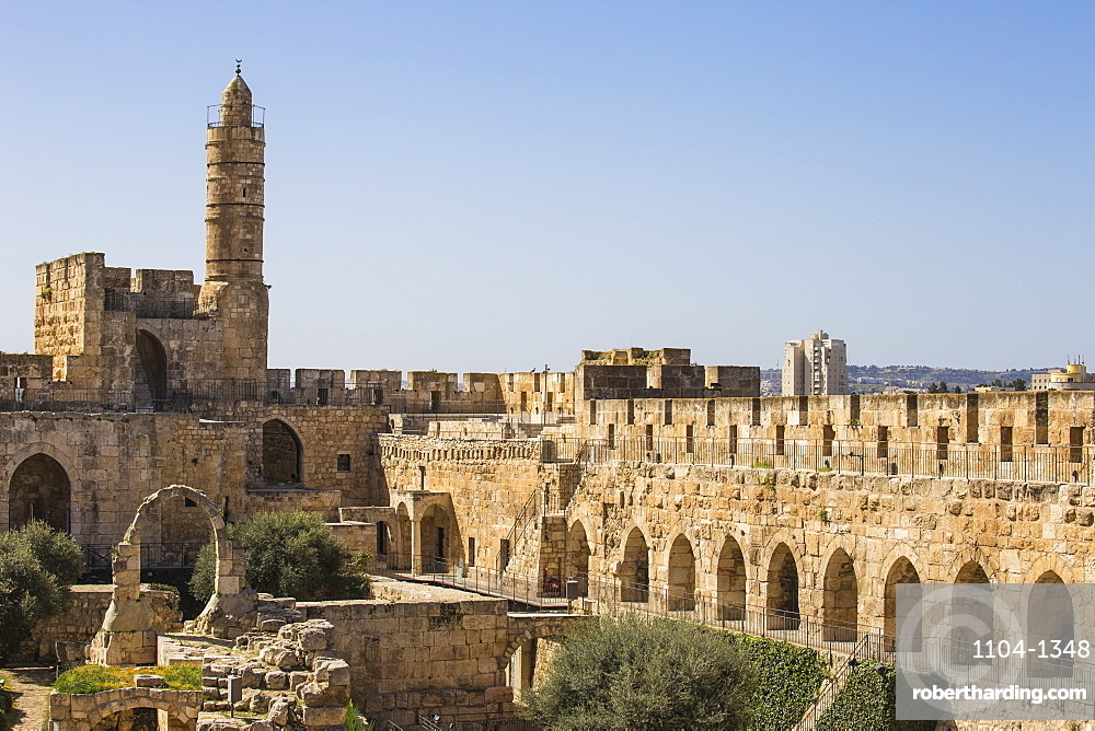 The Tower of David (Jerusalem Citadel), Old City, UNESCO World Heritage Site, Jerusalem, Israel, Middle East