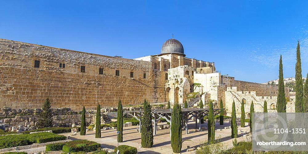 Jerusalem Archaeological Park and Davidson Center, Jerusalem, Israel, Middle East