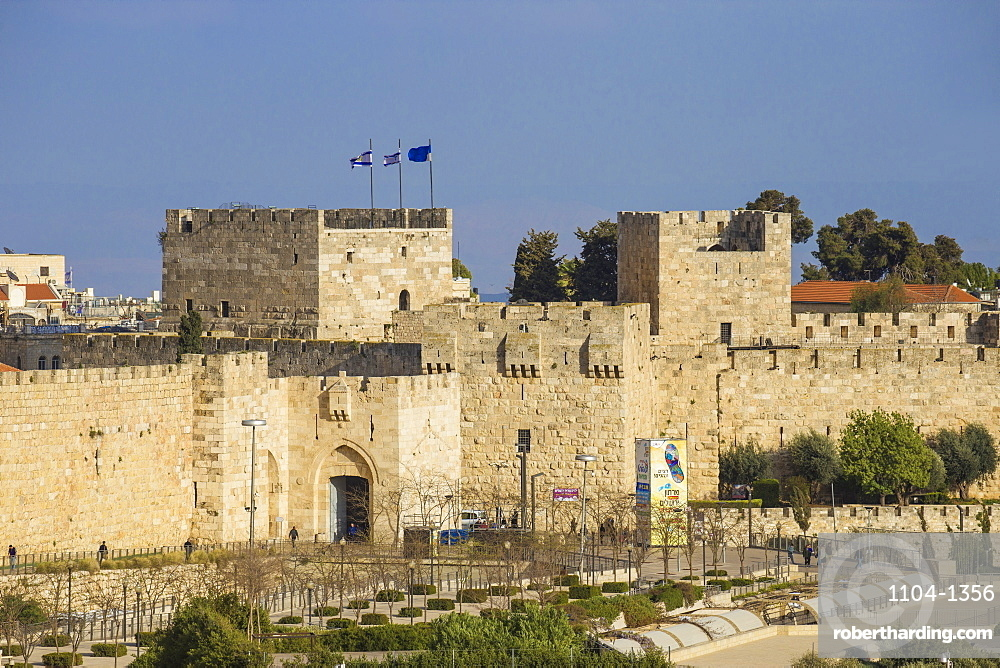 View of Jaffa Gate, Old City, UNESCO World Heritage Site, Jerusalem, Israel, Middle East