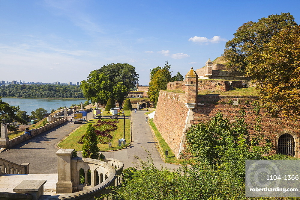 Great Kalemegdan staircase leading to The Victor Monument, Belgrade Fortress, Belgrade, Serbia, Europe
