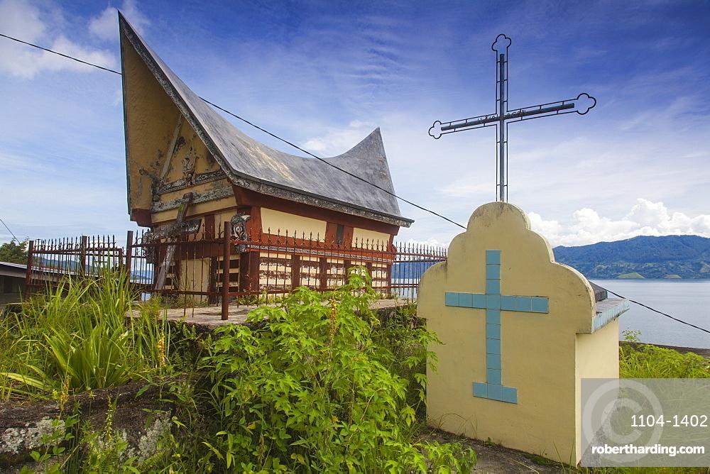 Batak Tombs, Lake Toba, Samosir Island, Sumatra, Indonesia, Southeast Asia, Asia