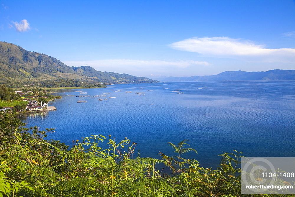 Lake Toba, looking towards Ambarita, Samosir Island, Sumatra, Indonesia, Southeast Asia, Asia
